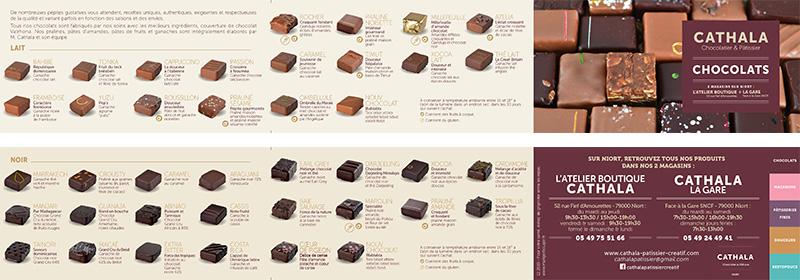 carte chocolats Cathala 2020